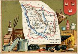Chomo - Carte De Département - Nièvre - Géographie