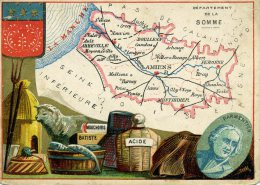 Chomo - Carte De Département - Somme - Géographie