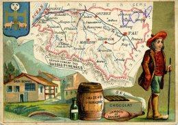 Chomo - Carte De Département - Basse Pyrénées - Géographie
