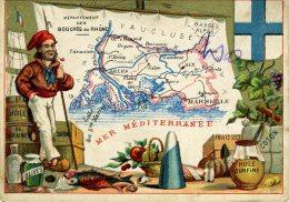 Chomo - Carte De Département - Bouche Du Rhône - Géographie