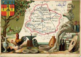 Chomo - Carte De Département - Sarthe - Géographie