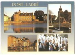 Dépt 29 - PONT-L'ABBÉ - (CPSM 10.4x15 Cm) - Multi-Vues -Le Château, Notre-Dame Des Carmes, Le Port, Fête Des Bigoudennes - Pont L'Abbe