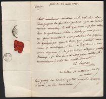 Famille ARNE DE SARIAC Noblesse Autographe 1833 Navarron - Historical Documents
