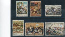 """1971-Greece- """"1821 Revolution - War At Land""""- Complete Set Used - Usados"""