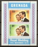FAMILIAS REALES - GRENADA 1973 - Yvert #H28 - MNH ** - Familias Reales
