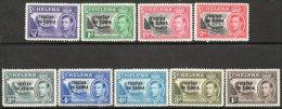 Tristan Da Cunha 1952 - Definitive Short Set To 1/- SG1-9 MNH Cat £28.65 - Tristan Da Cunha