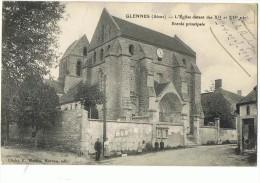 GLENNES --Eglise  , Entrée Principale - France