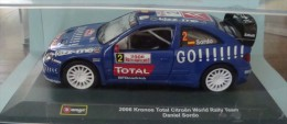 Voiture :  Citroën World Rally Team - Kronos Total - 2006 - Daniel Sordo - BBurgo - 1/32 - Avec Boite - Burago