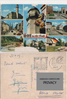 Cart716 Hof An Der Saale, Germany, Vedute Città, Auto Vintage, Old Cars, Marcofilia, Timbro - Hof