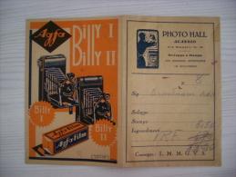 Portafoto PHOTO HALL Sviluppo E Stampa - ALASSIO Agfa Billi I - II 1950ca. - Vecchi Documenti