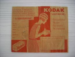 """Portafoto KODAK """"Verichrome"""" Anni´40 Con Negativo (Milano, Roma, Napoli, Venezia, Genova, Firenze) - Vecchi Documenti"""