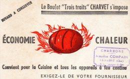 - BUVARD - BOULET De Charbon, Maurice COMPAIN à CHAROST ( Cher ) - 528 - Gas, Garage, Oil