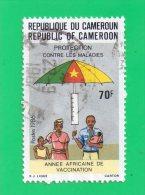 """REPUBLIQUE  DU CAMEROUN  """""""" 70 F. """"""""  ANNEE AFRICAINE DE VACCINATION ,,1986 ,, - Cameroun (1960-...)"""