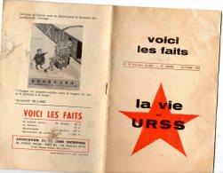 """Voici Les Faits )  Vie En URSS 1956"""" 16 Pages ; Industrie ,agriculture Niveau De Vie ; Photos ( Khroutchev  Etc) - Libros, Revistas, Cómics"""