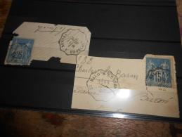 Lot Du 08.0713_24_lot De Convoyeur Sur Sage,fort Indice A Etudier - 1876-1898 Sage (Type II)