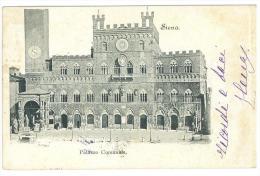 CARTOLINA - SIENA - PALAZZO COMUNALE  - VIAGGIATA NEL 1900 - Siena