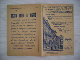 Portafoto/Busta Negativi Società Ottica A.Viganò - MILANO Anni´30 - Vecchi Documenti