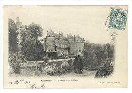 CARTOLINA - CASTELLO - CHASTELLUX   - LE MANOIR ET LA PARC - VIAGGIATA NEL 1917 - FRANCIA - Châteaux