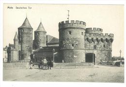 CARTOLINA - METZ - DEUTSCHES TOR - ANIMATA -  NON VIAGGIATA - Châteaux