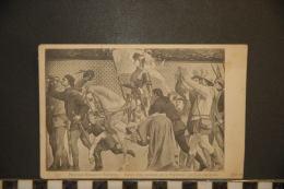 CP, Arts, Peinture, Peintures Murales Du Panthéon Jeanne D'arc Acclamée Par La Population Par JE Lepepveu - Peintures & Tableaux