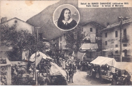 CPA CARTOLINA ITALIE VALLE SOANA RONCO CANAVESE IN TEMPO DI MERCATO 1926 LE MARCHE BIEN ANIME VUE RARE - Otras Ciudades