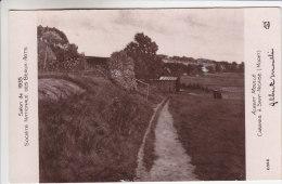 77 - Moret Sur Loing - Tableau D'Albert Moullé - Cabanes à St Nicaise - Signée Par Le Peintre - Moret Sur Loing