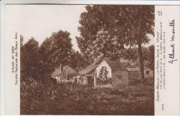 77 - Moret Sur Loing - Tableau D´Albert Moullé - La Porte Jaune - Dédicacée Par Le Peintre - Moret Sur Loing