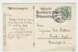 Deutsches Reich Ganzsache Postkarte Blumentag 1911