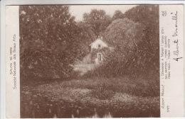 77 - Moret Sur Loing - Tableau D´Albert Moullé - L'Orvanne à Moret (temps Gris) - Carte Dédicacée Par Le Peintre - Moret Sur Loing