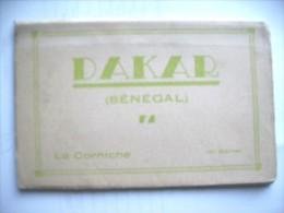 Afrique Sénégal Dakar La Corniche Carnet Détachables Déplier 10 Cartes Postales Map Booklet Album Old - Senegal