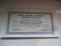 MADRILENA DE ALUMBRADO Y CALEFACCION POR GAS (MADRID-ESPAGNE) - Shareholdings