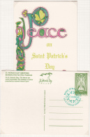 1996 EIRE IRLANDA IRELAND ST PATRICK'S DAY GREETINGS FD - Postwaardestukken