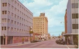Abilene TX Texas, Main Street Scene, Bank, Auto, c1960s/70s Postcard
