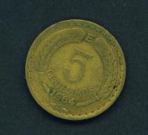 CHILE - 1964 5c Circ. - Chile