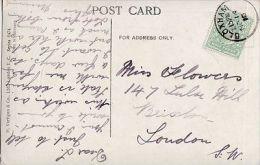 POSTAL HISTORY  -1910  BLOXHAM SINGLE CIRCLE  CANCELLATION - Postmark Collection