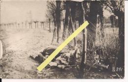 St Mihiel Meuse Cadavre Au Bords De La Route Carte Photo Us  WWI Ww1 14-18 1.wk 1914-1918 Poilus - Guerre, Militaire