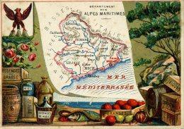 Chomo - Carte De Département - Alpes Maritimes - Géographie