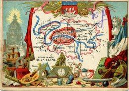 Chomo - Carte De Département - Seine - Géographie