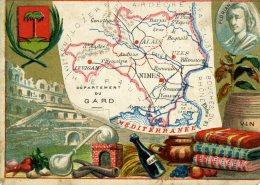 Chomo - Carte De Département - Gard - Géographie