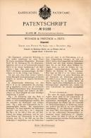 Original Patentschrift - Wünsch & Pretzsch In Zeitz , 1896 , Klappstuhl , Stuhl , Möbel !!! - Mobili