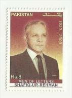 PAKISTAN MNH   MEN OF LETTERS SHAFIQ UR REHMAN FAMOUS PERSON WRITER - Pakistan