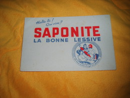 Buvard Saponite La Bonne Lessive / Date A Determiner. - Buvards, Protège-cahiers Illustrés