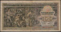 YUGOSLAVIA 100 DINARA 1953 ,  P-68 - Yougoslavie