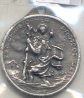 SAINT CHRISTOPHER - PATRON OF SAVE TRAVEL PLUS AU DOS VIRGEN DE LUJAN L'ARGENTINE RARISIME CIRCA 1900 - Tokens & Medals