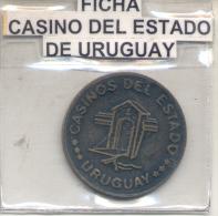FICHA - CASINOS DEL ESTADO - REPUBLICA ORIENTAL DEL URUGUAY CIRCA 1970 RARE - Casino