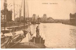Oostende-Ostende-1912-La Gare Maritime-Bateaux De Pêche- Edit. Le Bon ,Ostende-Timbre COB  108 - Oostende
