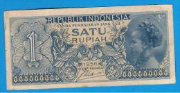 INDONESIA -  1 Rupia 1956 Circulado  P-74 - Indonesia