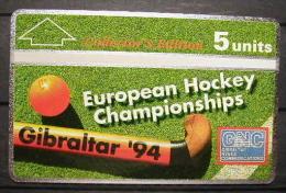 GIBRALTAR 1994 - TARJETA TELEFONICA - EUROPEAN HOCKEY CHAMPIONSHIP - NEW (NOT USED) - Gibraltar
