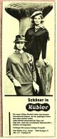 Reklame Werbeanzeige  -  Schöner In Kübler  ,  Kübler Modelle Stuttgart  -  Von 1965 - Historische Bekleidung & Wäsche