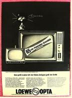 Reklame Werbeanzeige  -  Loewe Opta  -  Ganz Groß In Seier Art - Der Kleine  -  Von 1965 - Fernsehgeräte